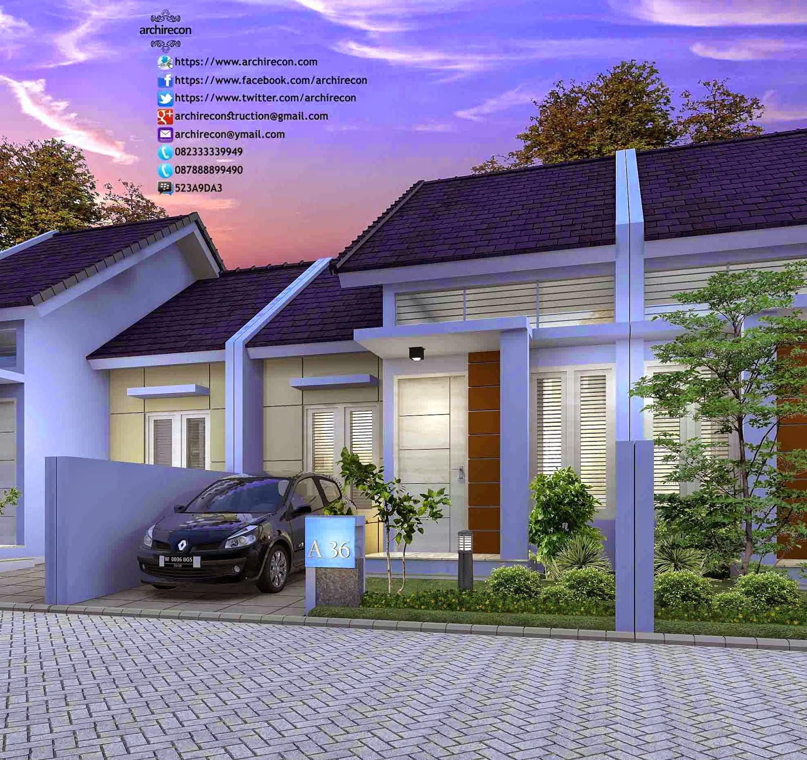 Hasil Jasa Desain Rumah Minimalis - Perumahan Green Land Villa - View Type 36