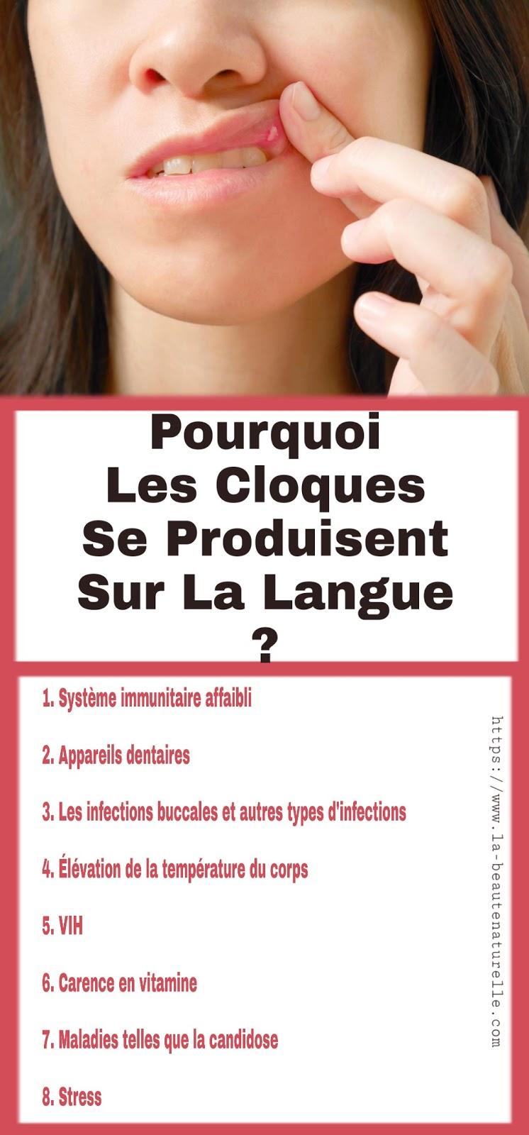Pourquoi Les Cloques Se Produisent Sur La Langue?