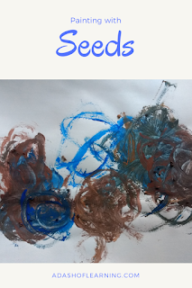 painting with seeds: process art activity for preschool