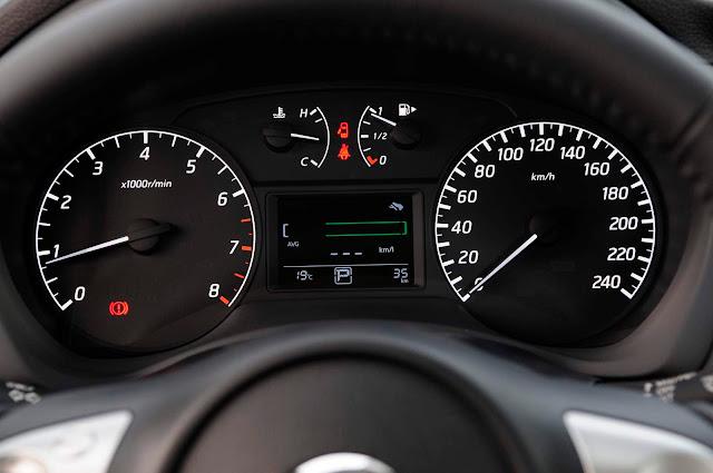 Novo Nissan Sentra 2017 - cluster de instrumentos