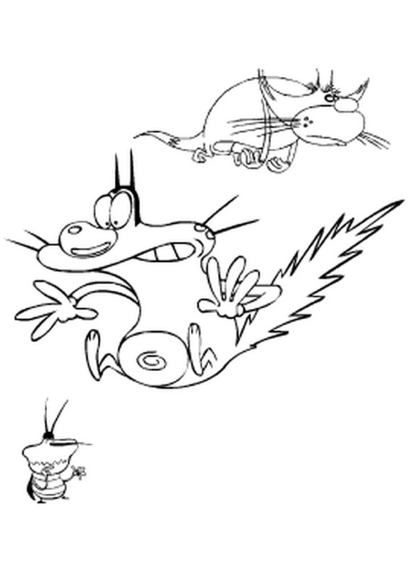 Oggy colouring pages for Disegni zig e sharko