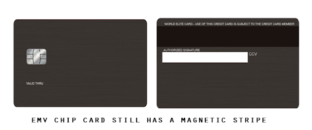 emv chip card with magnetic stripe