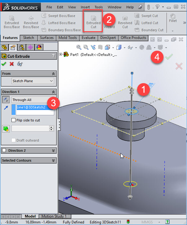 CNC Programming: 3  Easy to follow 3D sketching using Solidworks