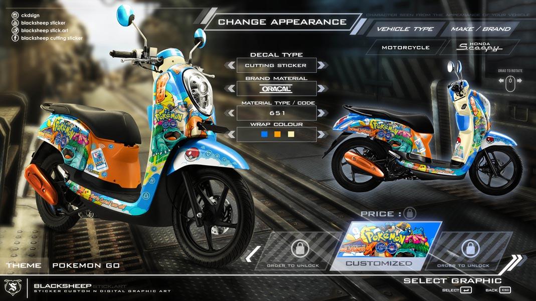Honda Scoopy pokemon go
