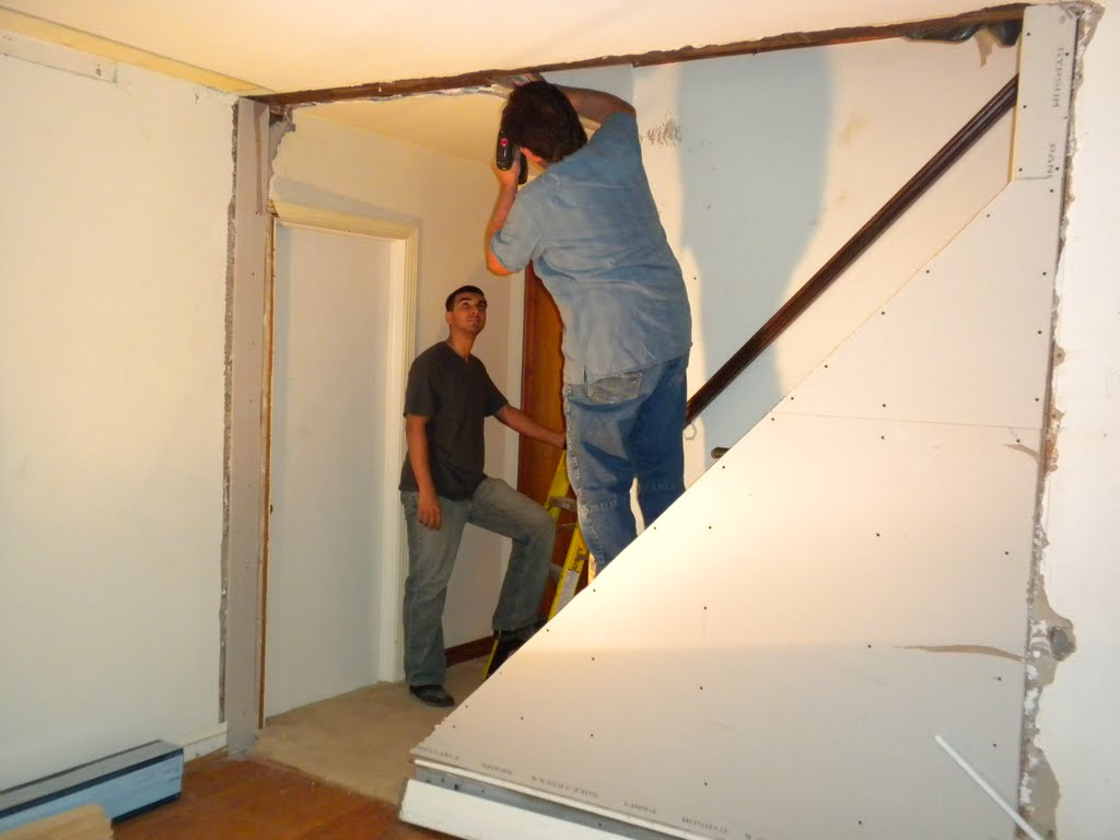 Renovating My Old House: Opening up a staircase with a ...