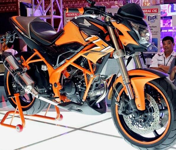 Foto gambar modifikasi motor cb150r minimalis sederhana dengan warna