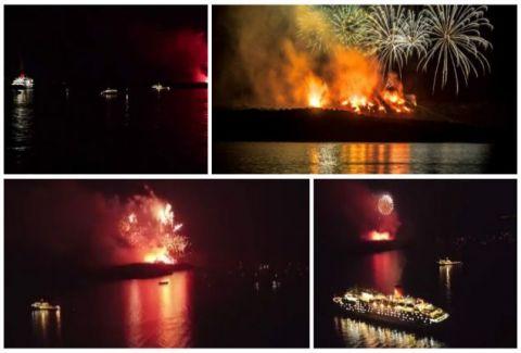 Η εικονική έκρηξη του ηφαιστείου της Σαντορίνης που μάγεψε τους πάντες! Έτσι έγινε η νύχτα μέρα! (VIDEOS)