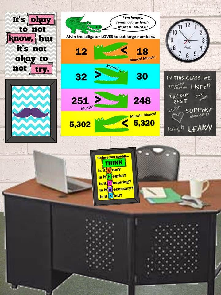 free math poster greater than less than