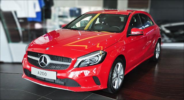 Đầu xe Mercedes A200 2019 thiết kế thể thao mạnh mẽ