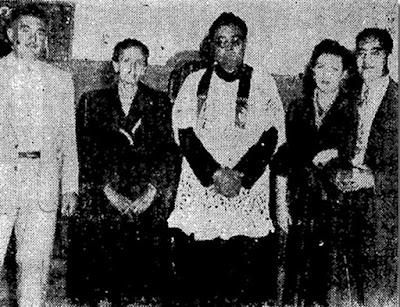 Ignacio Rojas Reynoso su esposa Beatriz N. de Rojas, Ricardo Rojas Reynoso y Maria Concepción Guillen