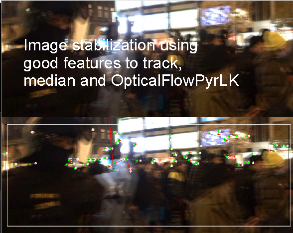 opencv image stabilization optical flow median