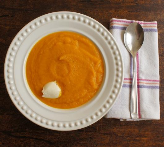 sopa de cenoura e gengibre