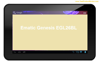 Ematic Genesis EGL26BL tablet