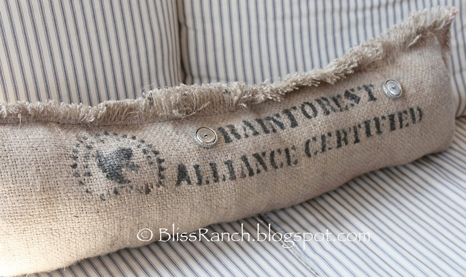 Bliss-Ranch.com Coffee Sack Pillows
