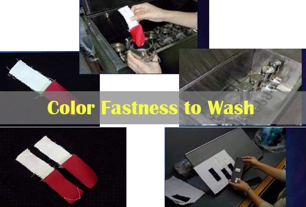 Color fastness to wash