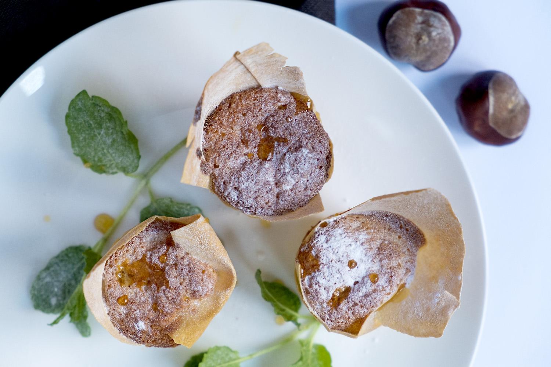 Muffins met kastanjes en filodeeg