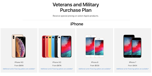 Apple unveils iPhone discounts for veterans and active military members