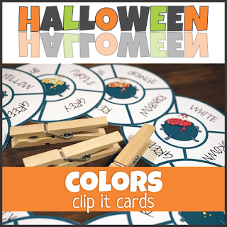 Halloween Color Clip Cards