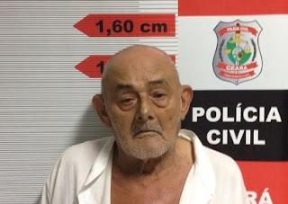 Resultado de imagem para Idoso de 91 anos é preso por tráfico de drogas e prostituição no Ceará