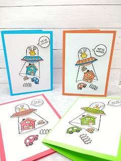 We've moved ! a card by Diane Morales | Lawn Fawn Stamp Sets