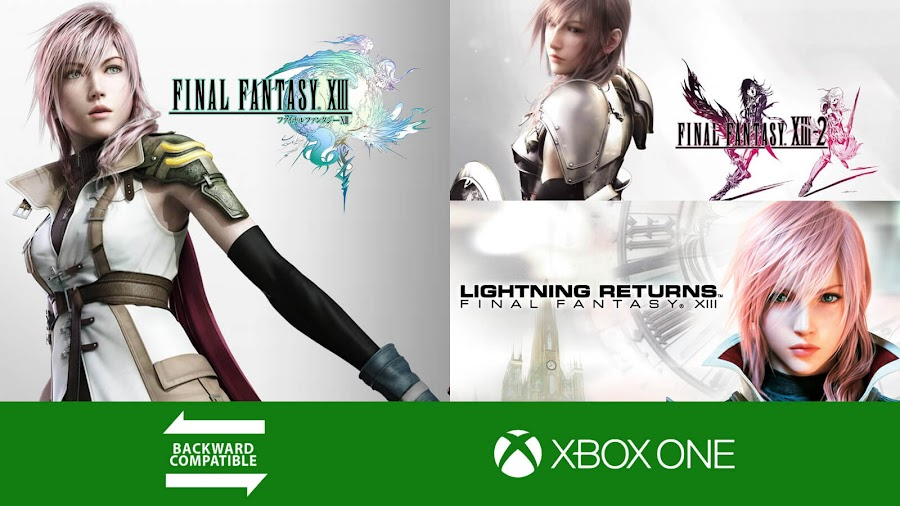final fantasy XIII trilogy xbox one backwards compatible