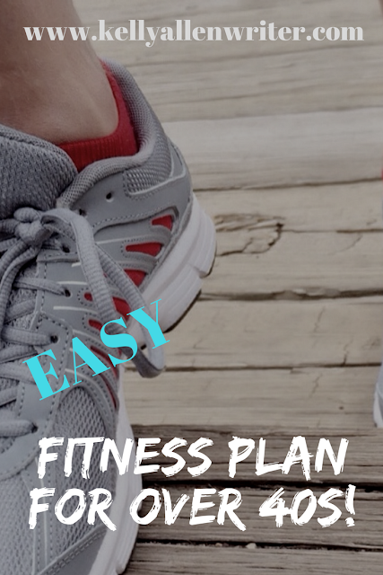 image of a white trainer with 'easy fitness for over 40s'