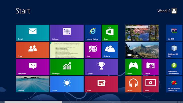Cara Membuat atau Memberi Password Pada Windows 8 Dengan Mudah