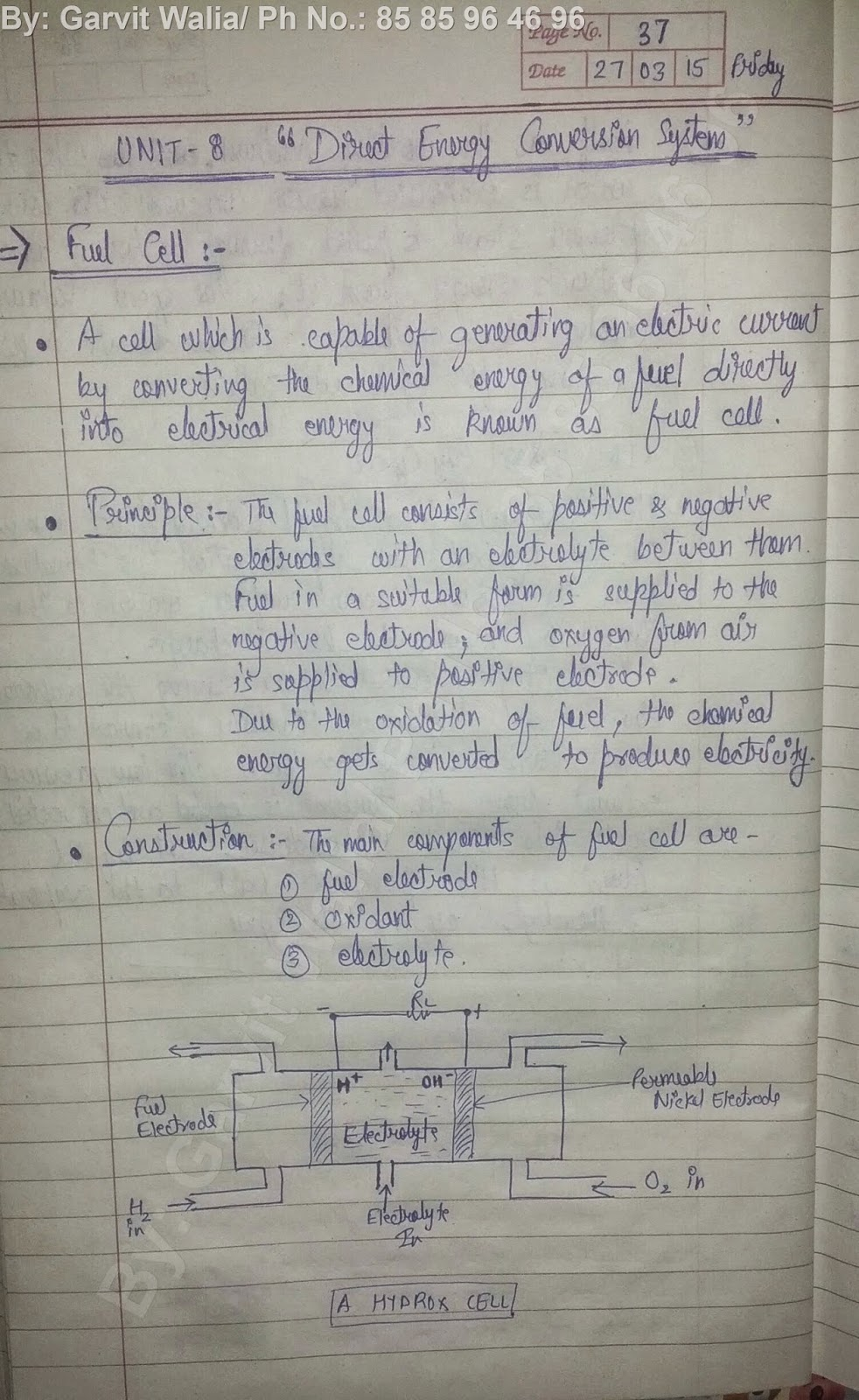 Mechanical Engineering 8th semester notes