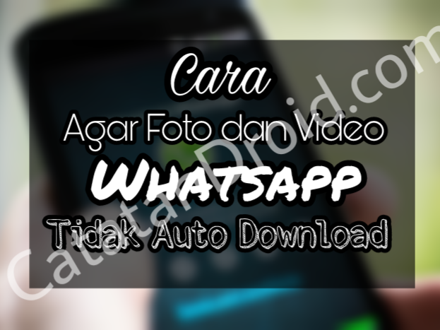 Cara Agar Foto dan Video Whatsapp Tidak Auto Download
