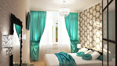 latest modern turquoise curtains design colors for living room bedroom interior decor 2019