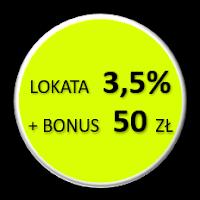 Lokata Bezkarna 3,5% w BGŻ Optima z nagrodą 50 zł