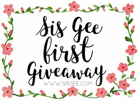 Sis Gee First Giveaway