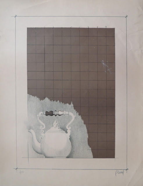 Litografía en venta de Carles Planell, pintor informalista y vanguardista