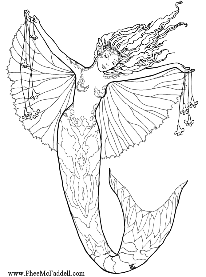 Enchanted designs fairy mermaid blog free fairy fantasy for Coloring page mermaid