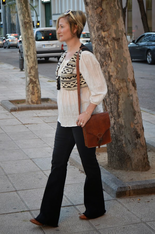 boho flared pants ethnic waistcoat look seventy estilo años setenta