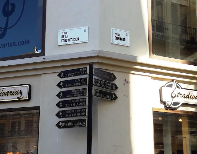 Malaga Street Signs