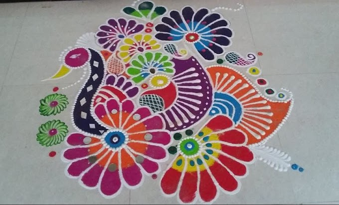 Colorful Rangoli Designs for Holi 2019