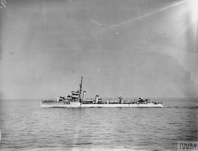 HMS Whitehall with experimental depth charge launchers, 27 July 1941 worldwartwo.filminspector.com