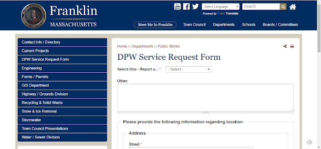 Reminder: Report problems via the DPW Work Order form