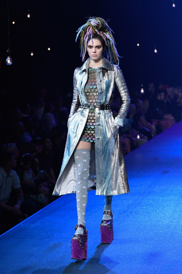 Kendall Jenner parade on New York fashion week