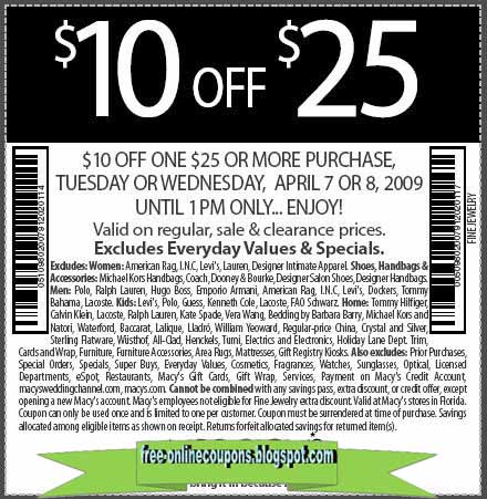 Macy coupon codes
