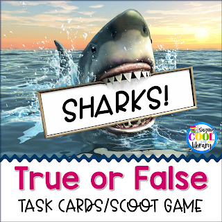 Sharks True or False Task Cards