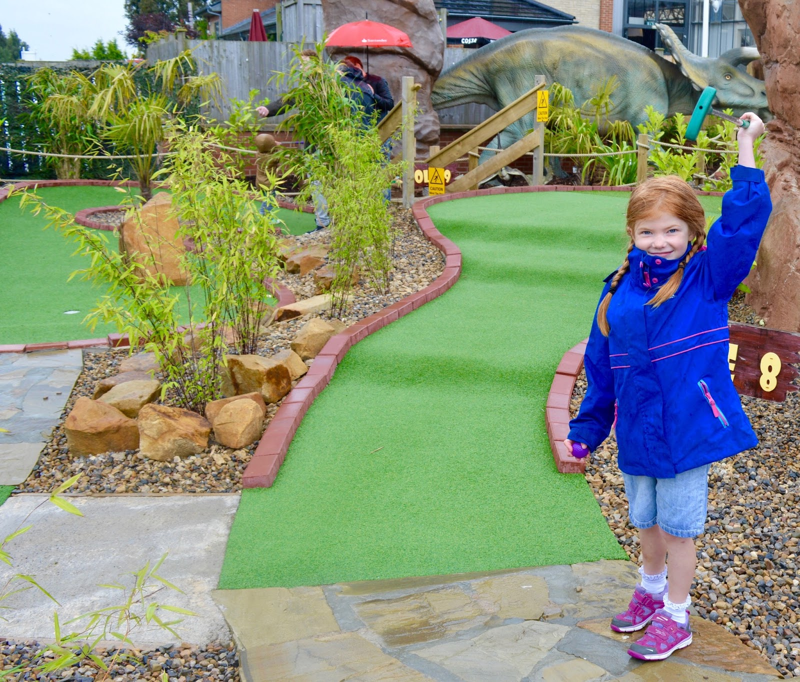Jurassic Dinosaur Crazy Golf at Heighley Gate Garden Centre near Morpeth