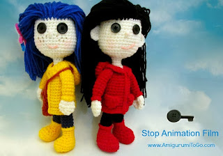 crochet dolls yellow and red