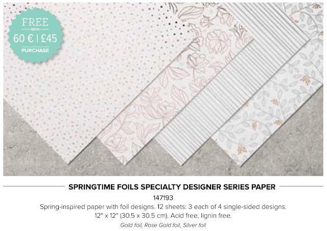 Stampin' Up! Springtime Foils
