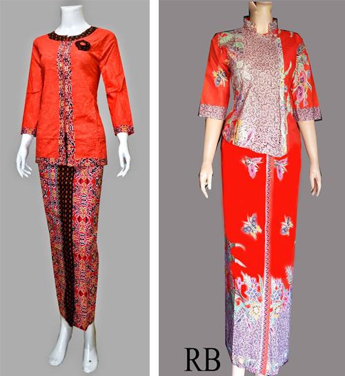 baju batik model pramugari