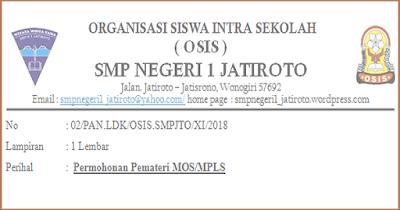 Contoh Surat Undangan/ Permohonan Pemateri MOS/ PLS 2018