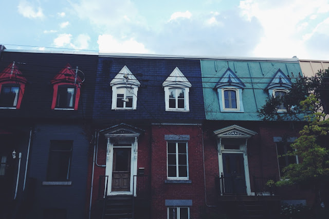 Townhouses in the Plateau in Montreal