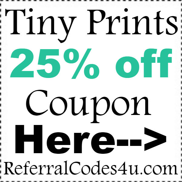 Tiny Prints New Customer Coupon 2016-2017, TinyPrints Cashback October, November, December