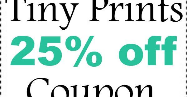 20 tiny prints discount code 2018 2019 tinyprints referral coupon